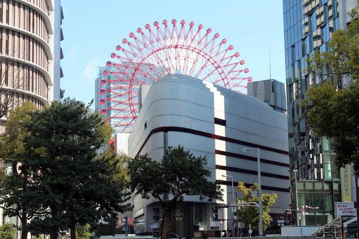 Verrückt: Auf dem Dach des Kaufhauses Hep Five steht in Osaka ein Riesenrad