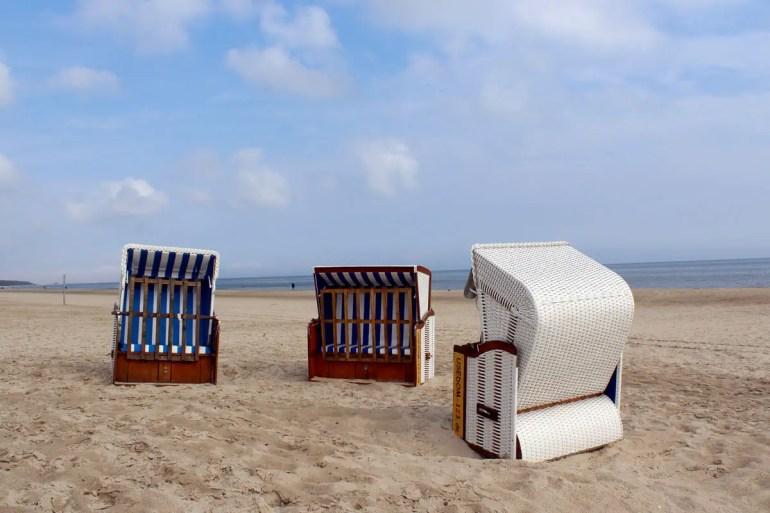 Am Strand von Karlshagen im Westen der Insel ist es deutlich ruhiger