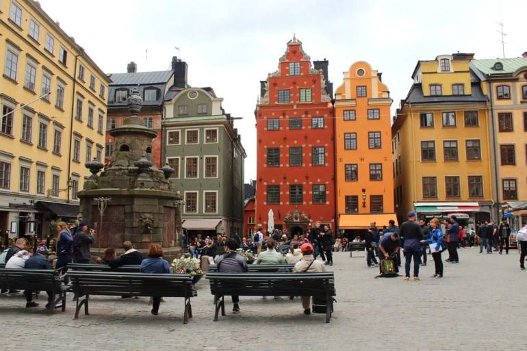 Der Stortorget ist der zentrale Platz in Stockholms Altstadt Gamla Stan
