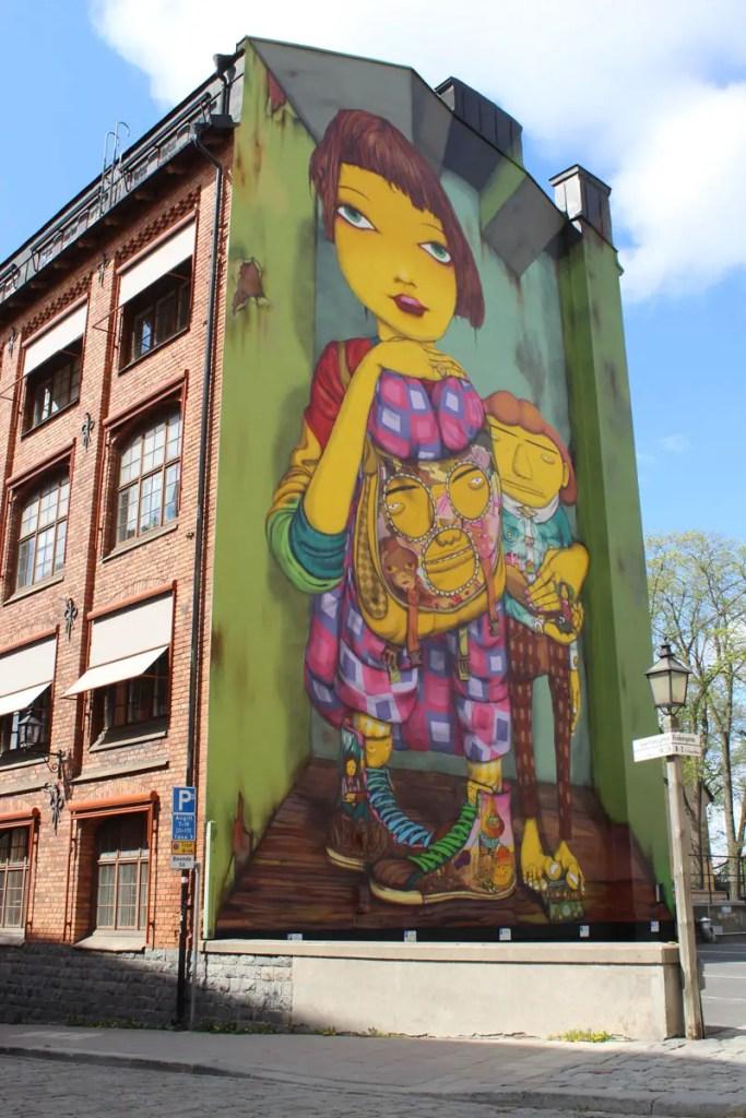 Im coolen Stadtteil Södermalm gibt's auch immer wieder Streetart