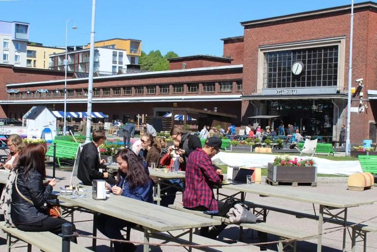 Auf dem alten Schlachthofgelände gibt's inzwischen coole Bars und Cafés