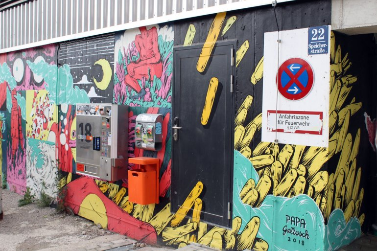 Im Münchner Werksviertel findest du fast überall coole Streetart