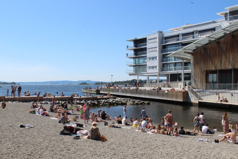 Beliebt im Sommer: Oslos City Beach