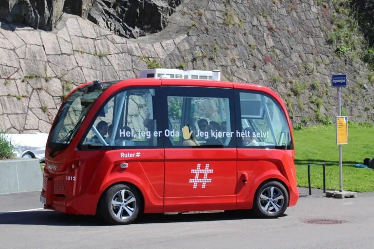 Oda und Mads heißen Oslos erste selbstfahrende Busse