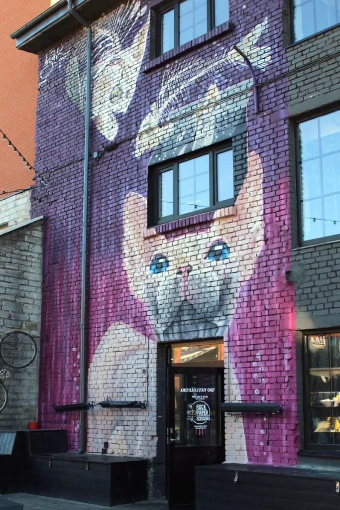 Streetart in Tallinns Kreativviertel Telliskivi