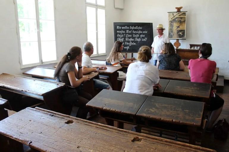 Die alte Dorfschule bietet Einblicke ins frührere Schulleben