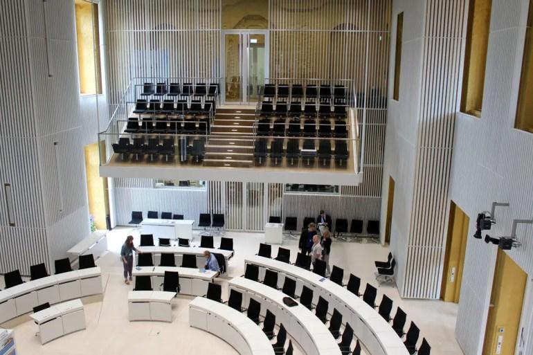 Der Plenarsaal des Landtages