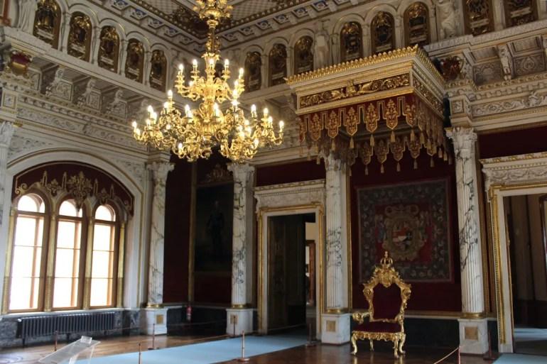 Highligth im Schlossmuseum ist der Thronsaal