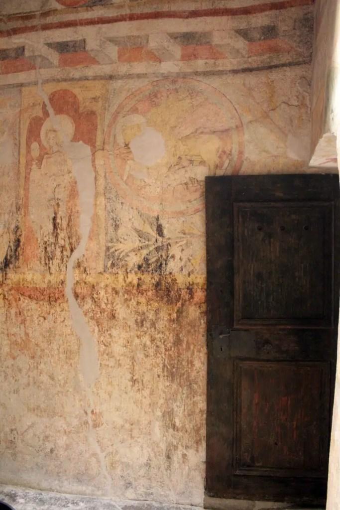 Die Fresken aus dem 14. Jahrhundert wurden durch Zufall entdeckt