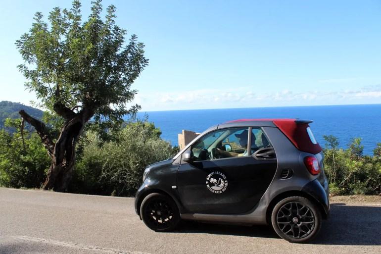Mit dem elektrischen Smart EQ kannst du durch die Berge flitzen