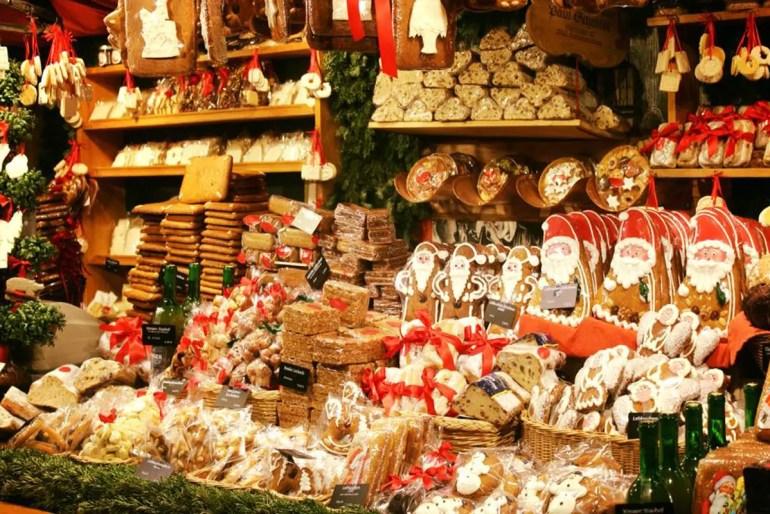 Lebkuchen findest du an vielen Ständen auf dem Christkindlmarkt