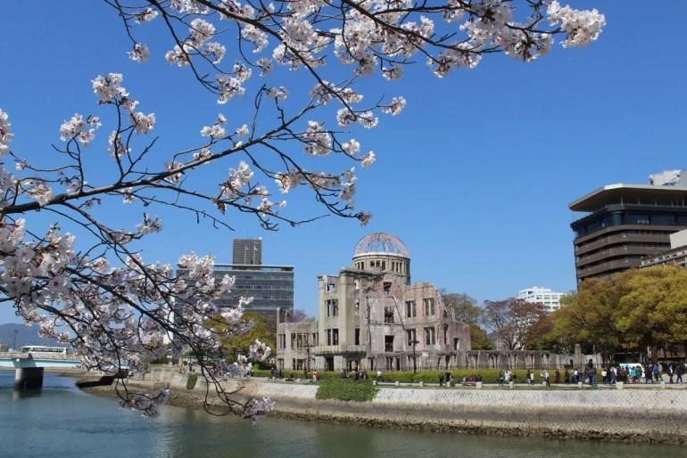 Auch in Hiroshima erblühen im Frühjahr die Kirschblüten