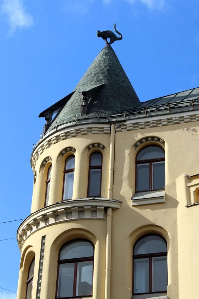 Ein Wahrzeichen in Riga: das Haus mit der Katze