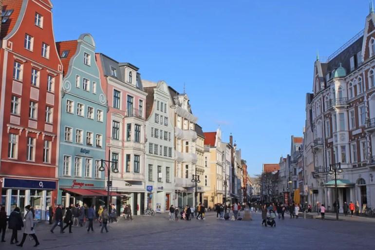 Die Rostocker Innenstadt lädt zu einem Shoppingbummel ein