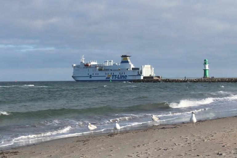 Von Warnemünde starten die Fähren nach Skandinavien