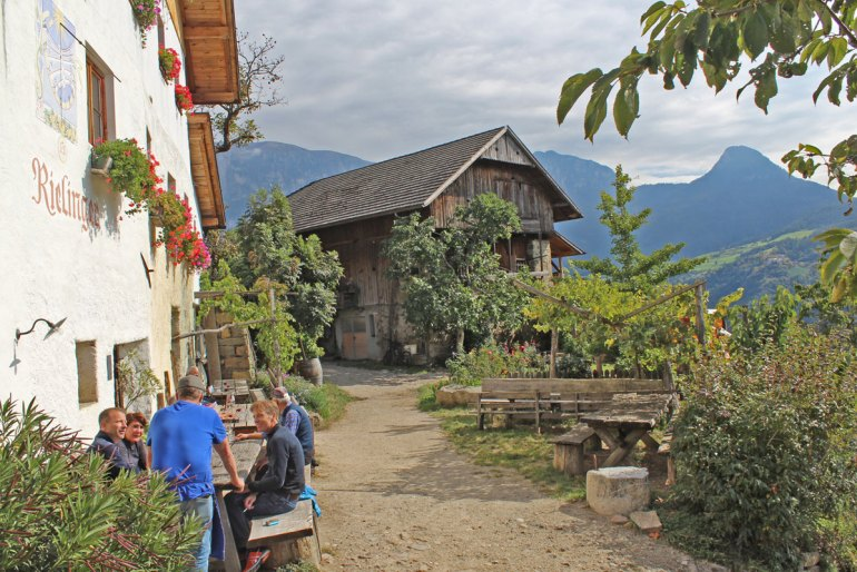 Ein Lieblingsplatz nicht nur zum Törggelen: der Rielingerhof