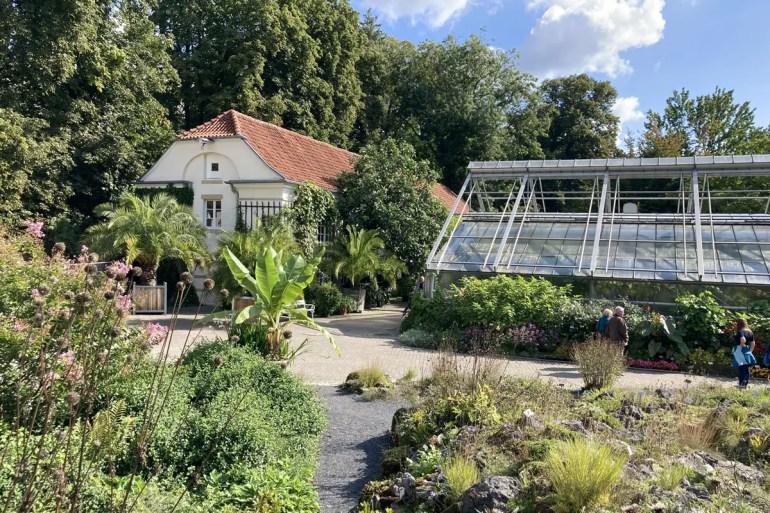 Münsters Botanischer Garten liegt direkt hinter dem Schloss