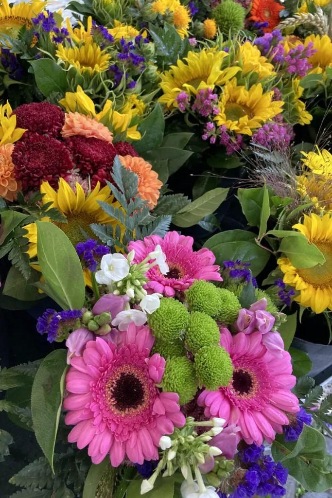 Blumen auf Münster Wochenmarkt