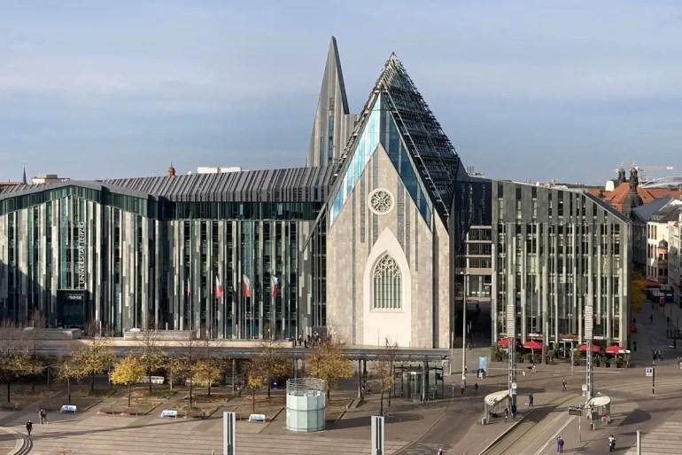 Neues Wahrzeichen der Universität Leipzig: das Paulinum am Augustusplatz