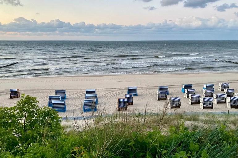 Vom Schlafstrandkorb aus hast du den Strand in Ückeritz im Blick