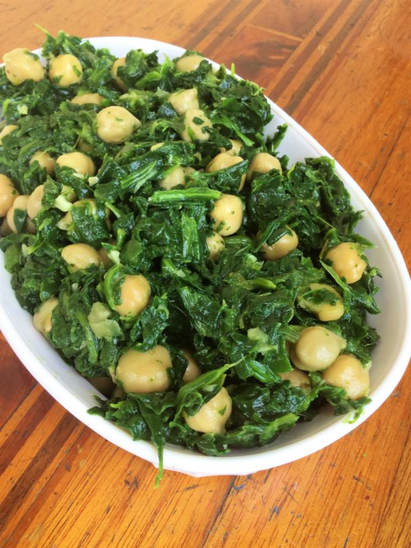 Saut    ed Spinach with Garlic   Chickpeas   My Healthy Homemade Life Sauteed Spinach with Garlic and Chickpeas   Vegan   Gluten Free   Healthy  Eating Recipes
