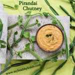 Hadjod/Pirandai Chutney | Calcium rich food