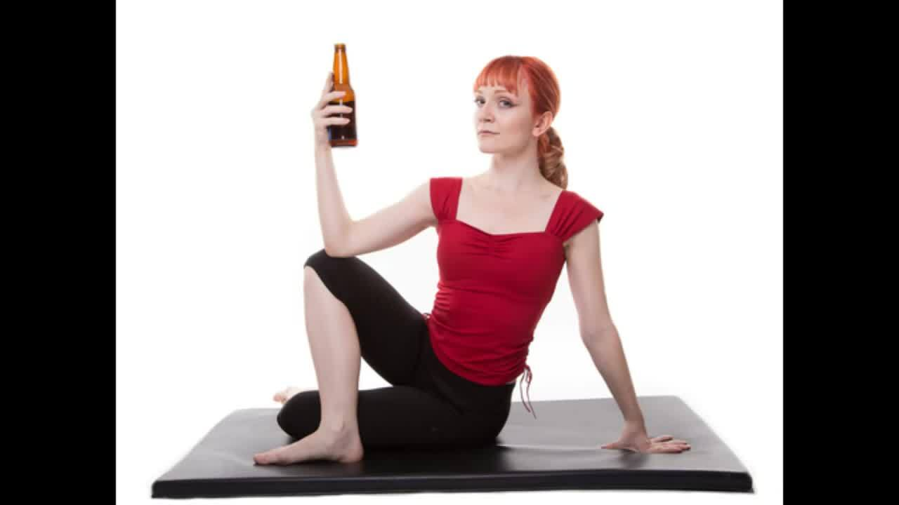 Drink beer and curse at rage yoga