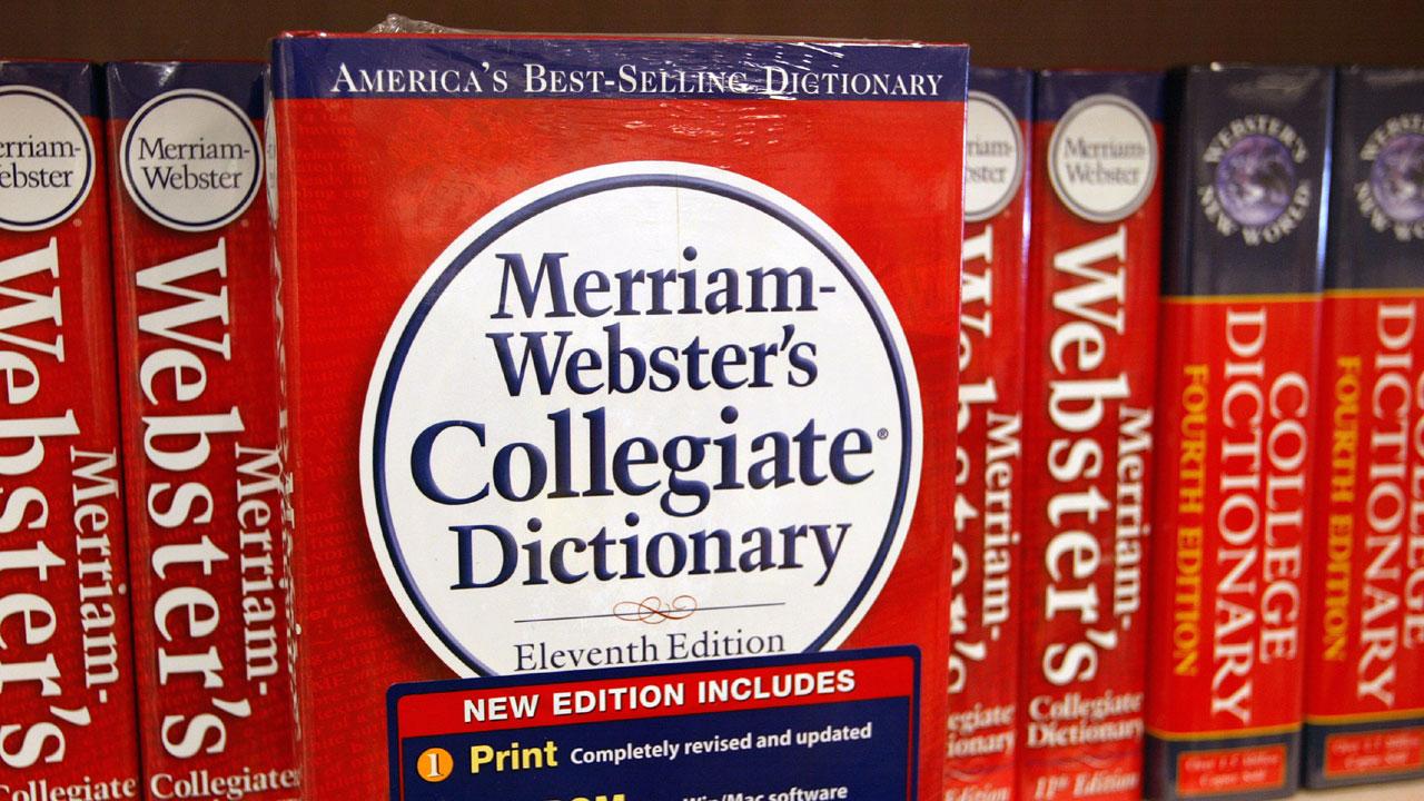 Merrian-Webster dictionary on shelf61636137-159532