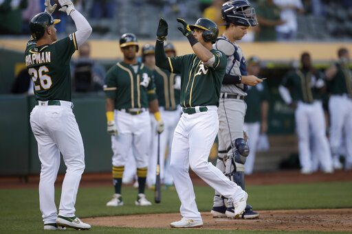 A's beat Tigers 7-3 in game resumed nearly 4 months later
