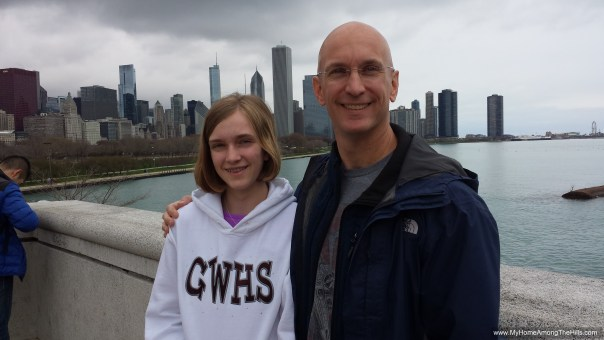 In Chicago on her birthday