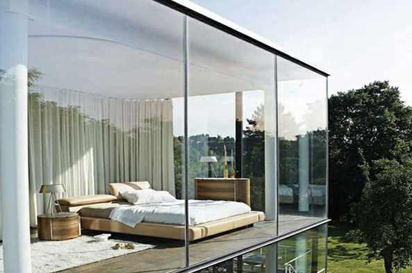 glass wall house