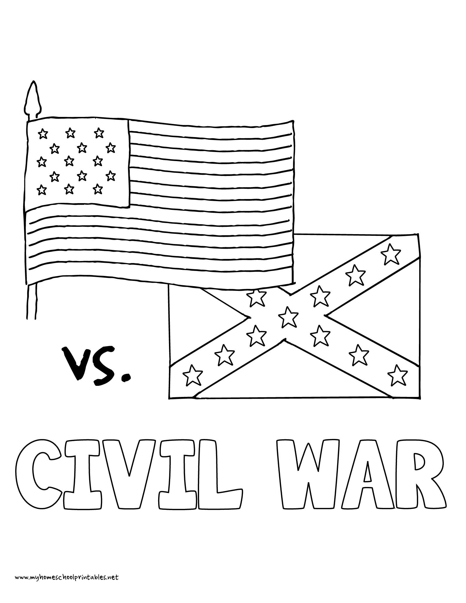 Civil War Map Coloring Sheet