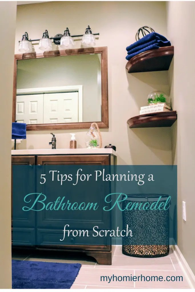 Bathroom remodels can be tricky, especially if you are starting from scratch. Find the 5 tips to help your bathroom project start on the right foot.