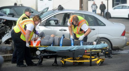 car accident stretcher