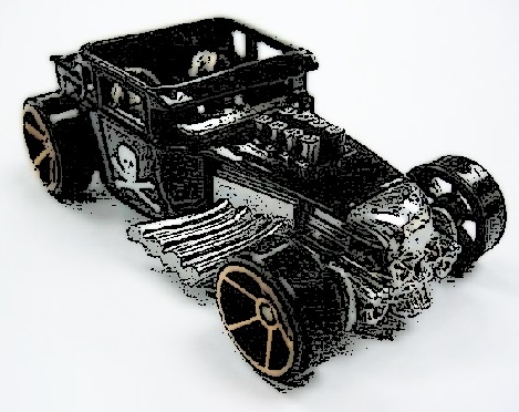 Hot Wheels Black Bone Shaker 2006 First Edition FTE