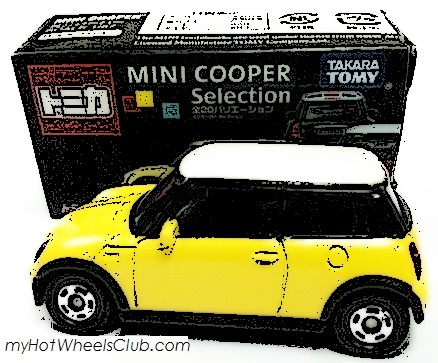 TOMICA-Takara-Tomy-Mini-Cooper-Selection-yellow-vhtf