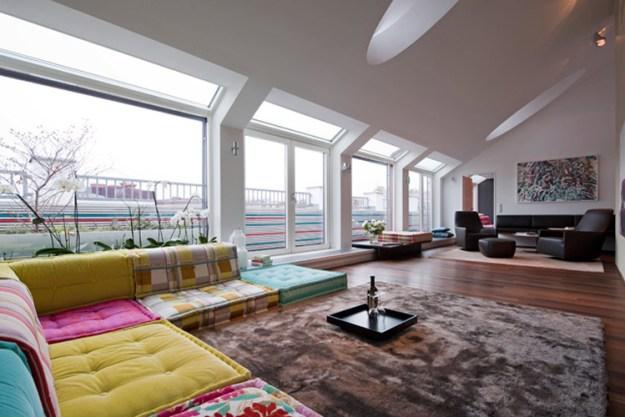 Attic living design by Junger & Beer 01