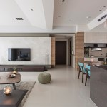 Fresh and elegant residential in Taiwan by HOZO interior design