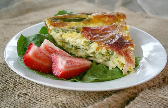 A Spring Quiche Recipe: An Asparagus and Prosciutto Self Crusting Quiche