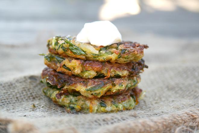 Mexi Zucchini Fritters + 20 More Nourishing Zucchini Recipes - myhumblekitchen.com