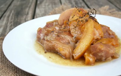 Slow Cooked Cider Pork Chops with Pumpkin and Apples