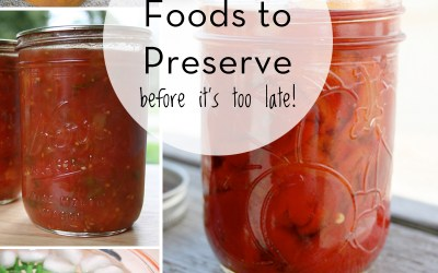 Simple Foods to Preserve Before It's Too Late!