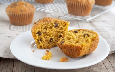 Honey Sweetened, Butternut Squash Chocolate Chip Muffins