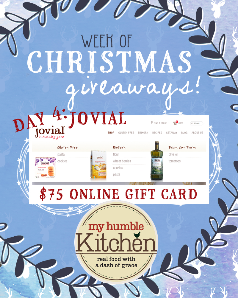 my humble kitchens week of christmas giveaways day 4 jovial foods myhumblekitchen - What Day Of The Week Is Christmas On