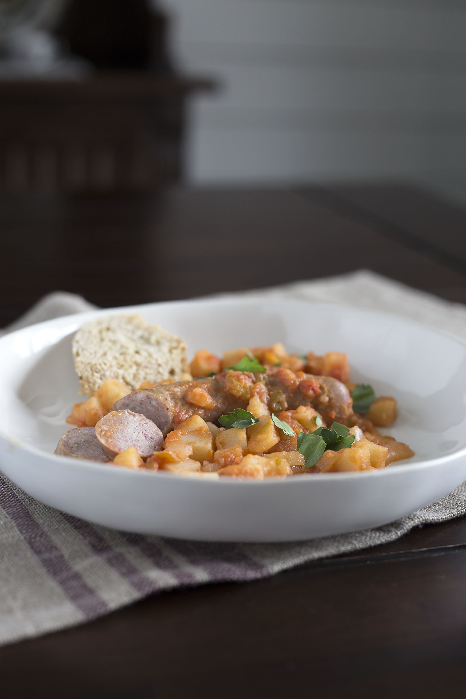 Sausage and Potatoes, A Humble Stew | myhumblekitchen.com