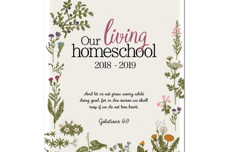 2018-2019, Charlotte Mason Homeschool Planner   myhumblekitchen.com