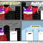 cat comic hero