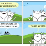 cat comic bicycle