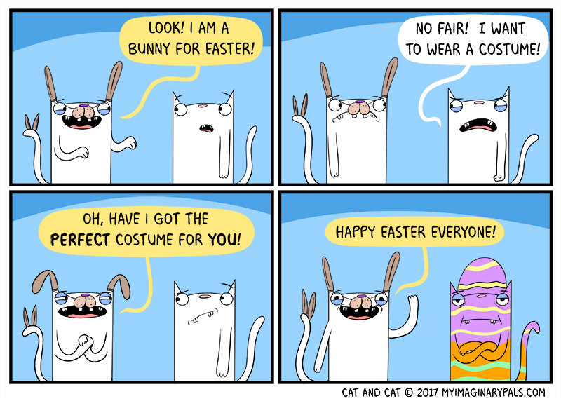 """Cat and Cat in """"Easter"""""""