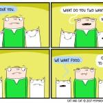cat comic love human